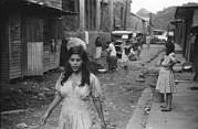 Latinas Prints - A Street In The Slum Area Of The Hill Print by Everett