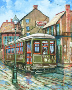 New Orleans Painting Prints - A Streetcar Named Desire Print by Dianne Parks
