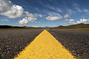 Double Yellow Line Prints - A Strip Of Asphalt Into Thin Air Print by Stefano Zuliani photo