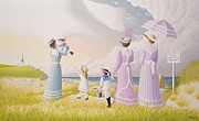 Nanny Prints - A Stroll on the Dunes Print by Peter Szumowski