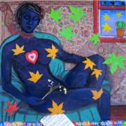 A Sudden Gust Of Wind Blows A Rhapsody In Blue Print by Susan Stewart