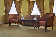 Chaise Prints - A Suite In A Hotel A Lounge Print by Will Burwell