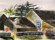 Warm Summer Drawings Prints - A Summer House Print by John  Williams