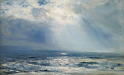 High Seas Metal Prints - A Sunbeam over the Sea Metal Print by Henry Moore