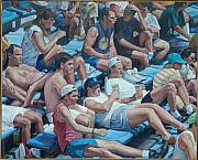 Yankee Stadium Bleachers Paintings - A Sunday Crowd by James Sparks