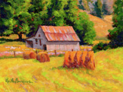 Shed Painting Prints - A Sunny Morning Print by Keith Burgess