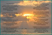 Hugo Framed Prints - A Sunset A Poem - Victor Hugo Framed Print by Bill Cannon