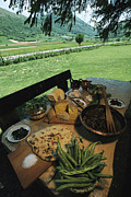 Types Of Food Posters - A Table Spread With A Typical Umbrian Poster by O. Louis Mazzatenta