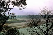 Bing Photos - A Temple Stands Beside Minjiang River by O. Louis Mazzatenta