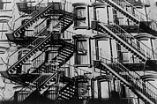 New York City Fire Escapes Photos - A Tenement Building On The Lower East by Everett