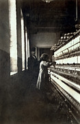 1900s Portraits Photos - A Textile Mill. Little Girl 48 Inches by Everett