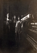 1900s Portraits Photos - A Textile Mill. Some Of The Small Boys by Everett