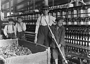 1900s Portraits Photos - A Textile Mill. Sweeper And Doffer Boys by Everett