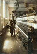 1910s Candid Framed Prints - A Textile Mill Worker, King Philip Framed Print by Everett
