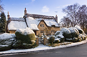 Charming Cottage Photos - A thatched cottage in the Cotswolds  by Andrew  Michael