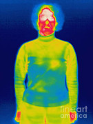 Thermogram Prints - A Thermogram Of A Clothed Woman Print by Ted Kinsman