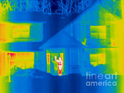 Greet Framed Prints - A Thermogram Of A Person Waving In House Framed Print by Ted Kinsman