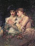 Tending Framed Prints - A Thorn Amidst Roses Framed Print by James Sant