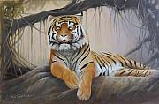 Eric Shepherd Paintings - A Tigers kingdom by Eric Shepherd