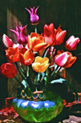 Floral Photographs Posters - A Time For Tulips Poster by Michael Durst