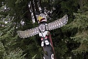 Devotional Art Photo Posters - A Totem Pole In British Columbia Poster by Taylor S. Kennedy