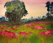 Poppies Artwork Paintings - A Touch of Pink by Julie Lueders