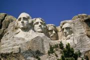Patriots Prints - A Tourists Eye View Of Mount Rushmore Print by Paul Damien