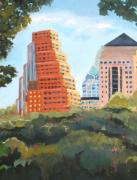 Austin Skyline Painting Originals - A-Town by Vicki Brevell