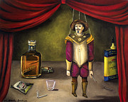 Marionette Paintings - A Tragedy by Leah Saulnier The Painting Maniac