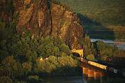 Harpers Ferry Photos - A Train Enters A Tunnel From A Railroad by Joel Sartore