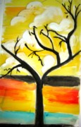 Sonali Singh - A tree and Sun rise