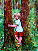 Figure Pose Paintings - A Tree For Every Child by Yelena Rubin