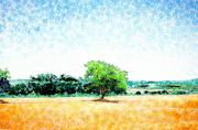 Cow Mixed Media - A Tree Near Siena by Jason Allen