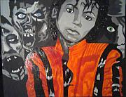 Michael Jackson Portrait Painting Originals - A Tribute To Michael Jackson by Cheryl Booth