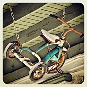 Child Photos - A Tricycle Hanging In Arcadia, Florida by Troy Thomas