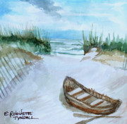 Nautical Paintings - A Trip to the Beach by Elizabeth Robinette Tyndall