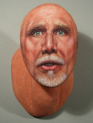 Portrait Sculpture Sculpture Prints - A Trophied Artist Print by James W Johnson