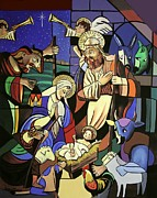 Baby Jesus Mixed Media Prints - A True Story Print by Anthony Falbo