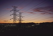 Hardware Photos - A Twilight Los Angeles Sky Crisscrossed by Gordon Wiltsie