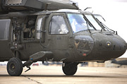 Tikrit Art - A Uh-60 Black Hawk Taxis by Terry Moore