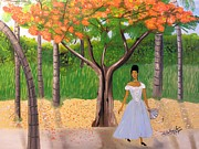 Nicole Jean-louis Paintings - A une Dame Creole by Nicole Jean-Louis