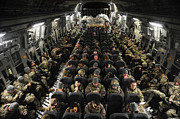 Kyrgyzstan Photos - A Unit Of U.s. Army Soldiers In A C-17 by Stocktrek Images