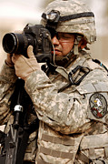 Iraq Prints - A U.s. Air Force Combat Cameraman Print by Stocktrek Images