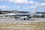 Airfield Prints - A U.s. Air Force F-16c Fighting Falcon Print by Giovanni Colla