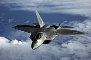 Guam Prints - A U.s. Air Force F-22 Raptor Aircraft Print by Stocktrek Images