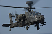 Gunship Prints - A U.s. Army Ah-64 Apache Helicopter Print by Stocktrek Images