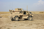 Mrap Photos - A U.s. Army Cougar Mrap Vehicle by Terry Moore