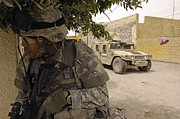 Operation Iraqi Freedom Art - A U.s. Army Soldier Providing Perimeter by Stocktrek Images