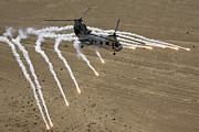 Iraq Prints - A U.s. Marine Corps Ch-46 Sea Knight Print by Stocktrek Images