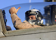 Thumbs Up Prints - A U.s. Marine Corps Pilot Gives Print by Stocktrek Images